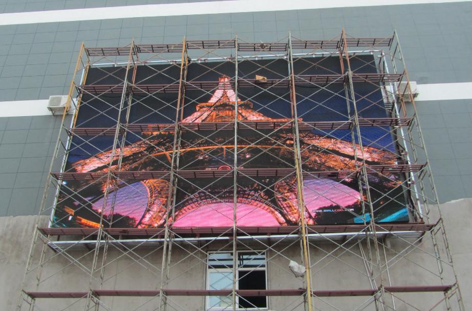 P6全彩显示屏钢结构安装要求
