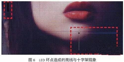 LED全彩显示屏坏点